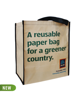 Paper eco promotional bags, with cotton reinforcement