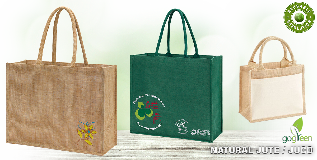 Reusable Jute Juco Shopping Bags - Eco friendly